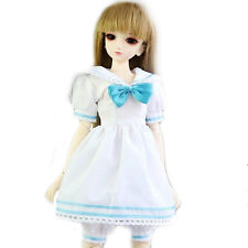 120# White & Light Blue Shirt/Clothes/Dress/Suit/Outfit 1/4 MSD DOD BJD Dollfie