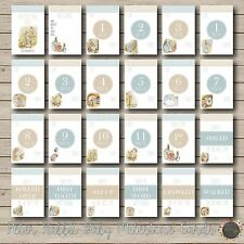 "Peter Rabbit Baby Moments and Milestones Cards 23 Pack 4×6"" Photo Blue boy girl"