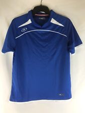 Xara Soccer Jersey Athletic Shirt Blue Youth Large