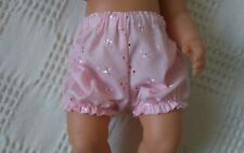 "BJB dolls clothes Pink embroidery anglais knickers pants fit 18"" baby born doll"