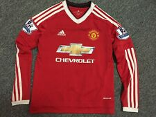 Manchester United Rooney 10 Jersey Long Sleeve Age 11-12 Youth M