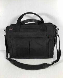 Victorinox Black Nylon Travel Business Laptop Convertible Crossbody Briefcase