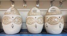 Beautifull TEA COFFEE SUGAR JARS STORAGE ORNAMENT KITCHEN ROMANY