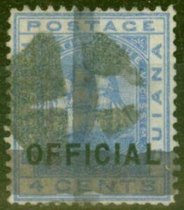 British Guiana 1878 1c on 4c Blue SG144 Good Used