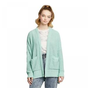 NWT Wild Fable Women's Long Sleeve Open Neck Chenille Oversized Cardigan