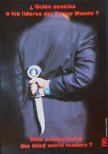 """Original CUBAN anti CIA FBI """"Assassins"""" Propaganda Poster from OSPAAAL in Cuba"""