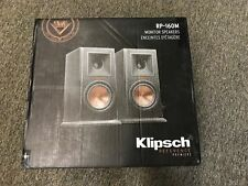 KLIPSCH RP-160M REFERENCE PREMIERE MONITOR SPEAKERS - PAIR -EBONY== BRAND NEW ==