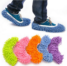 House Floor Foot Sock Shoe Mop Slipper Lazy Quick Polishing Cleaning Dust Xmas