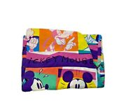 Mickey Minnie Mouse Goofy Donald Duck Twin Fitted Sheet Vintage 90s RARE Disney