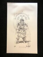 """FREDERICK HAMBLY SIGNED ARTIST PROOF LITHOGRAPH """"APACHE CROWN DANCER"""" 12"""" X 20"""""""