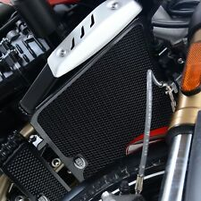 R&G Racing Radiator Guard Black For Triumph 2017 Speed Triple S (1050)