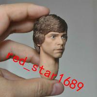 1/6th Luke Skywalker PVC man  Head Sculpt With Neck Fit 12'' Action Figure Toy