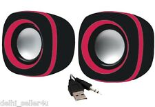 Quantum QHM602 Speaker USB 2 Powered 3.5 mm Mini Speakers + Bill