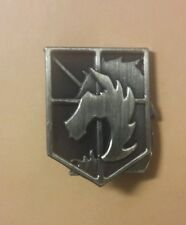 Attack On Titan Metal Militar Police Pin Latón Antiguo Color
