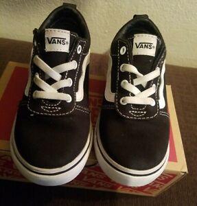 Black Off The Wall Vans Todler Size 10.