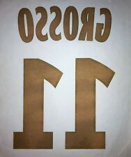 FLOCAGE OFFICIEL LIGUE 1 LYON HOME - GROSSO #11 (MONBLASON) 2008