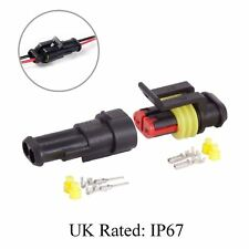 Waterproof 2 Way Pin Electrical Wire Joint Superseal Connector / UK Rated: IP67