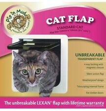 """Ideal Pet Products Cat Flap Door with 4 Way Lock, 6.25"""" x 6.25"""" Flap Size"""