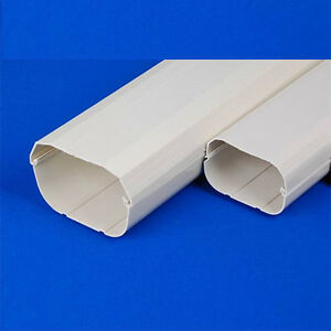 New Air Conditioner Wall Duct Cover PVC Duct Split System 100mm 2m Length