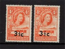 """Bechuanaland QE 1961 3½c on 4d with Bold """"C"""" variety Unmounted Mint"""