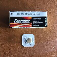 Energizer 371/370 Battery Watch Batteries Silver Oxide 1.55V SR69 SR920W NEW