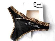 String Tanga Leo Mini Stringtanga Braun mit Leopard Muster Höschen NEU S-M
