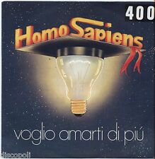 """HOMO SAPIENS - Voglio amarti stasera - VINYL 7"""" 45 LP 1980 VG+/VG- CONDITION"""