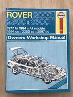 Rover 2000, 2300 & 2600 Haynes Owners Workshop Manual,