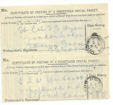 Certificate of Posting Registered Packet 1905 x 2