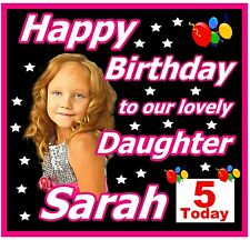 PERSONALISED HAPPY BIRTHDAY (DAUGHTER) SOUVENIR FRIDGE MAGNET / PHOTO - GIFTS