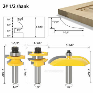 1/2'' Shank Ogee Raised Panel Cabinet Door Router Bits Set Milling Tenon Cutter