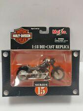 Harley Davidson 2000 FLSTF Street Stalker Custom 1:18 Diecast Maisto Series 15