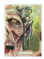 The Walking Dead Hunters & Hunted Walker Zombie Sketch Card by Brad Hudson