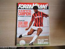 FORZA MILAN!=N°10 1989=COPPA CAMPIONI REAL MADRID=RIJKAARD=BORGONOVO AI RAGGI X