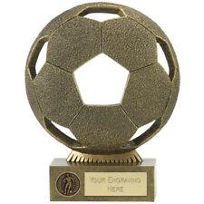 CALCIO 21.5 cm In Resina Grande Palla Trophy * Incisione Gratuita * uomo della partita
