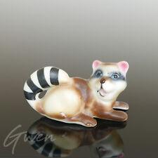 Miniature Ancienne Raton Laveur Animal Figurine porcelaine creuse Bibelot Japon
