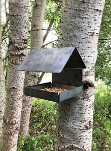 Rustic Metal Wild Bird Feeder Wildlife Seed Garden Allotment Wildlife Squirrel