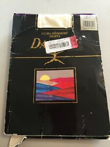 Danskin Ultra Shimmery Tights White Size C Vintage 1992 Style 1331