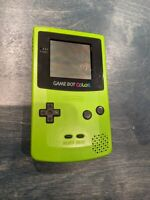 Nintendo GameBoy Color GBC Handheld Device CGB-001 Kiwi Neon Green Clean Tested