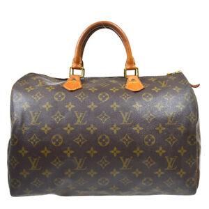 LOUIS VUITTON SPEEDY 35 HAND BAG PURSE MONOGRAM CANVAS M41524 bt 38548