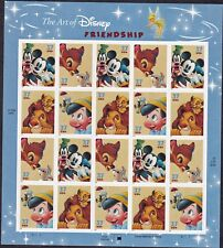 US Stamps #3865-3868 - The Art of Disney - Friendship -  pane of 20 -  B7684