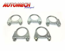 Automech Heavy Duty 58mm Exhaust Clamps, Quality Plated Finish (PACK of 5)