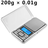 Portable 200g x 0.01g Digital Scale Jewelry Pocket Balance Gram LCD Herb Gold