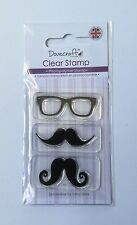 Mustache And Glasses Clear Stamps - Dovecraft