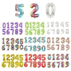 40'' Giant Gradient Balloon Numbers Foil Balloon Wedding Birthday Party Decor