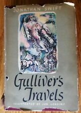 Gulliver's Travels by Jonathan Swift HC DJ Jon Corbino Illus. 1945 BCE