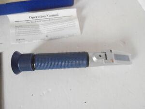 D-D Portable Refractometer Aquarium - Boxed - Instructions