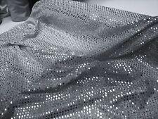Silver 'glittery' Sequin Fabric