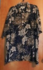 Men's Original Island Wear Island Shores Hawaiian Shirt Dark Blue Floral XXL