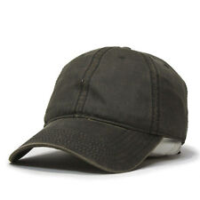 Heavy Washed Wax Coated Adjustable Low Profile Baseball Cap